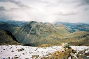 Great Gable from Scafell stock by AngiWallace