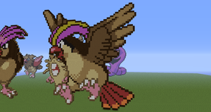 Minecraft Pokemon #018:  Pidgeot by Sherio88