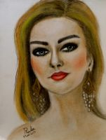 Portrait..Soft pastels by rula2014