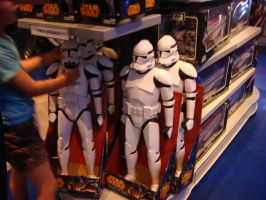 Stormtrooper toys at Disneyland's Star Wars Store by Magic-Kristina-KW