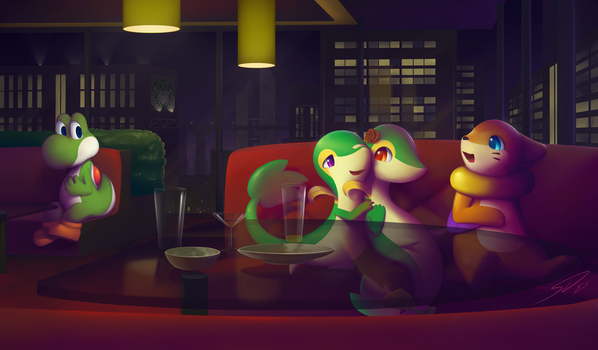 A Memorable Night Out: Comm for Visionaryserpent by streetdragon95