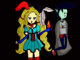 *Fionna y Marshall Lee* by Aelita222