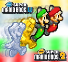 New Super Mario Bros.2 + New Super Mario Bros.U 2 by FaisalAden