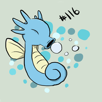 Horsea #116 by Ginace