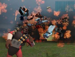 Demoman loves his explosives by stiky101