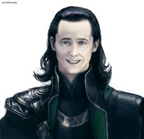 Loki smiles by maXKennedy