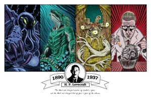 H.P. Lovecraft Tribute by MDominic