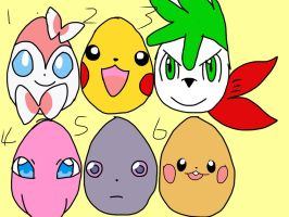 Pokemon easter hatchables! by alucardserasfangirl