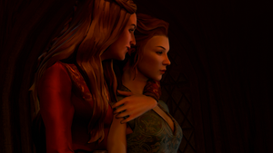 Margaery and Cersei by notsodamndeviant