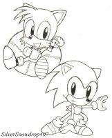 Classic Sonic and Tails by SilverSnowdrop407