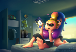 Splatoon Fanart: Play? by streetdragon95