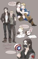 bucky and steve by Yamygugu