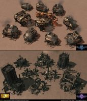 Starcraft II: New Haven and Korhal Assets 2013 by cg-sammu