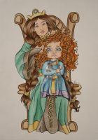 Colored Merida's Pout by margaridavinhais