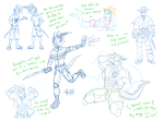 Monthly sketches - August 2015 by McTaylis