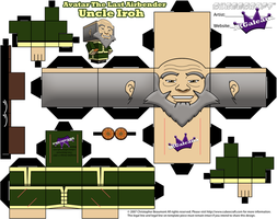 Avatar The Last Airbender Uncle Iroh cubeecraft tm by SKGaleana