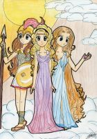 Atena, Hera and Afrodita by ElenaGranger