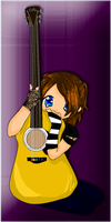 lilchibi and guitar by inugurly