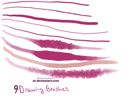 Smoke And Mirrors 9 Painting Brushes by desperatedeceit
