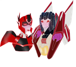 Starscream and skyward ~commission~ by linda0808
