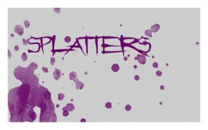 Splatter Brushes set. 6 by Chlotte