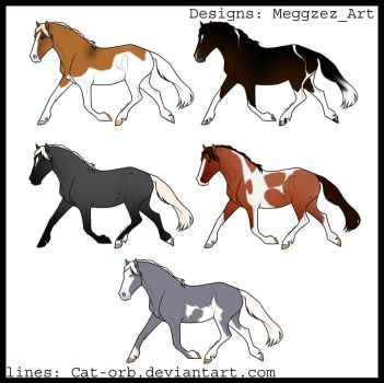 Free Horse designs for INSTAGRAM ONLY by MeggzezArt