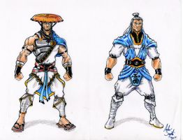 Raiden alternate costume designs by soysaurus1