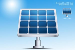 Solar Energy Vector Icon (PSD) by psdblast