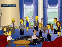 The West Wing, Groening style by Omegaville