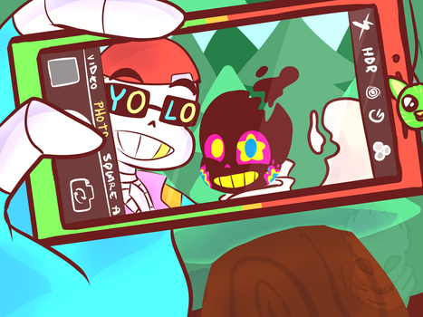 Day 1 A selfie together [FreshPaper] by UniverseCipher
