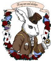 white rabbit by koffinkandy