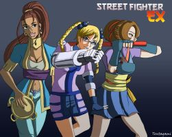Street Fighter EX Girls by Tentagami