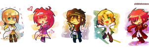 Chibis for Vienix by PhuiJL