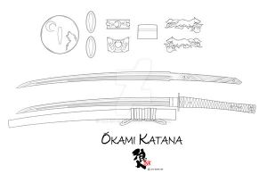 Okami Katana by Ronin-ink