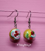 tart dangle earrings by tinkypinky