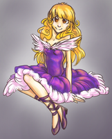Poofy Purple Dress by AddictionHalfWay
