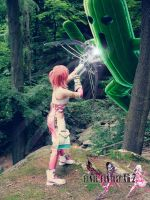 Serah Farron FFXIII-2 Cosplay battle by MiyuDoLLy