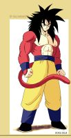 Goku ssj4 Retro Design by salvamakoto