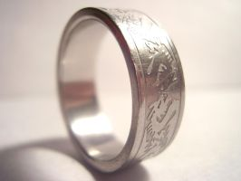 Dragon Wedding Band by TheSortedBead