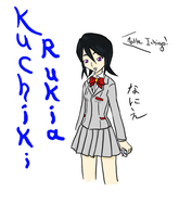 Rukia in Uniform by Nanie-chan