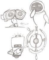 Wall-E sketches by BenSoulstone