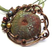 Urchin Necklace by sojourncuriosities