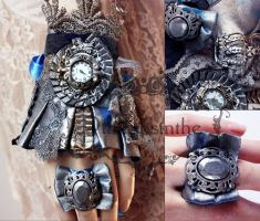 Star dust set watch and ring by Pinkabsinthe