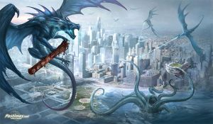 Chicago dragon playmat by sandara