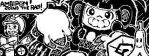 Miiverse Drawing: Ambipom joins the race! by Darkbomb0