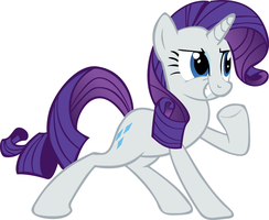 Rarity Confident Pose Vector by DarkFlame75