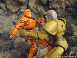 Robots vs. Androids 3D printed figures E by hauke3000