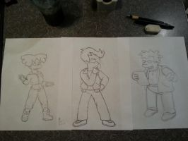 various works in progress by simpspin