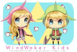 Windwaker kids by GreyRadian