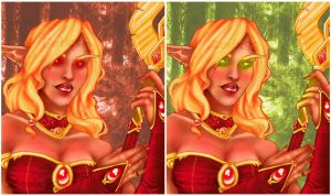 Blood Elf Collab: 2 Ver. by GothicSky